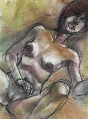 slurpie (judafuta) Tags: woman sexy art female naked nude erotic boobs pussy drawings pastels vagina