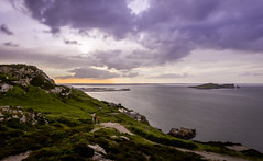 A View From Howth head (davidjhumphries) Tags: ocean blue ireland sunset sea sky howth dublin cliff green eye nature rock clouds canon golden harbor boat glow harbour dusk wide vista 5d irelands 1740mm gorse 2016 waater 0616 5dmkii 270616