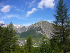 Summer view (SixthIllusion) Tags: travel blue summer sky italy holiday mountains trekking livigno