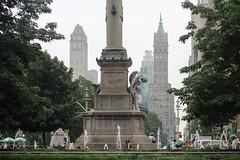 IMG_2791 (kz1000ps) Tags: nyc newyorkcity statue architecture hotel cityscape manhattan spire christophercolumbus columbuscircle urbanism centralparkwest sherrynetherland