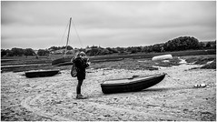 The Apprentice , 5 . (wayman2011) Tags: uk people boats mono coast seaside northumberland alnmouth canon5d lightroom riveraln bwlandscapes wayman2011