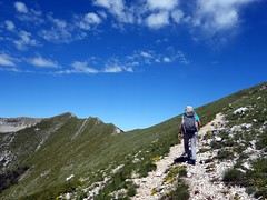 On the way up Pizzo Deta, with Monte del Passegio on the horizon (markhorrell) Tags: walking lazio apennines montiernici