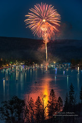 Elegance In Fire - Bass Lake 2016 (Darvin Atkeson) Tags: california light lake snow mountains reflection water rain forest day glow fireworks bass nevada 4th july sierra pines shore independence 4thofjuly basslake oakhurst elnino 2016 darvin atkeson darv lynneal yosemitelandscapescom