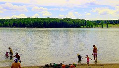 One of those Beautiful Summer Days (Haytham M.) Tags: summer lake ontario canada beach swimming sand woods outdoor shore 18200mm canont4i