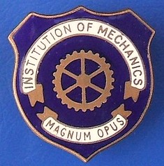 Institution of Mechanics enamel badge (1920s - 1950s) (RETRO STU) Tags: institutionofmechanics magnumopus technicalcolleges enamelbadge