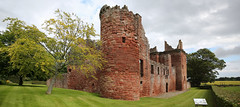 Edzell Castle (1) (arjayempee) Tags: castle scotland angus fortress towerhouse northesk forfarshire edzellcastle glenesk earlofcrawford lindsayofedzell courtyardcastle mounthpasses edzellcastlegardens av6a545152stitch stirlingofglenesk baronyofglenesk