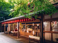 Shrine Shop (maida0922) Tags: summer green leaves japan maple kyoto shrine inari shade  refreshing fushimi  em5 g20mmf17