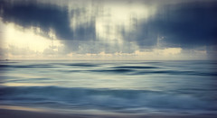 Time and Motion (Bruus UK) Tags: blue sky seascape abstract blur clouds evening coast movement marine cornwall surf waves pentax dusk tide horizon shore stives porthmeor