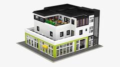Motorgerte Fachhndler (Power Equipment Dealer) 1.0 01 (-Nightfall-) Tags: apartment lego elevator modular dentist moc powerequipment modularbuilding