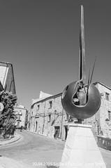 Petralia (Lord Seth) Tags: 2015 d5000 lordseth petralia sicilia bw biancoenero borgo italy medievale municipio nikon scultura