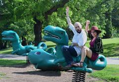 Winning the Dinosaur Race (RockN) Tags: justin newyork carolyn albany washingtonpark dinosaurrace fathersday2016