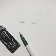 Sneak peek   #sketch #draw #art #instaart #wip #peek (tiny_teesha) Tags: instagramapp square squareformat iphoneography uploaded:by=instagram moon