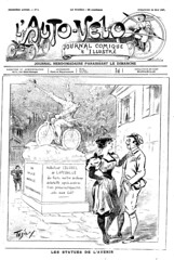 1897-05-30. L'Auto-vlo, journal comique & illustr (foot-passenger) Tags: bnf bibliothquenationaledefrance journal magazine humor 1897 franais frenchmagazine humour    sportsfashion