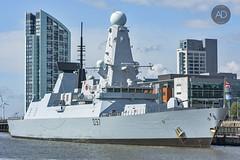 HMS Duncan (alun.disley@ntlworld.com) Tags: sunlight weather liverpool marine cityscape battleship shipping theroyalnavy rivermersey type45destroyer hmsduncan