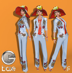 Ghee SS16 Tailored Pants (Sophia Paez) Tags: second life sophia paez modeling bloggers fashion suit pants embroidered ss16 hat summer spring baxe ghee casual chic