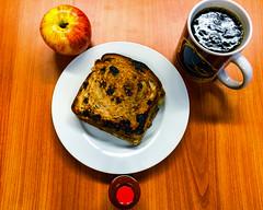 Toasted pulled pork with cheese on raisin bread (garydlum) Tags: canberra woden pulledpork apple pork cheese raisintoast phillip australiancapitalterritory australia au
