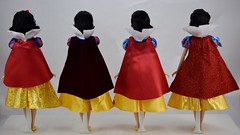 2013-2016 Classic Snow White Dolls Compared - Disney Store Purchases - Full Rear View (drj1828) Tags: disneystore doll 12inch classicprincessdollcollection 2016 purchase snowwhite snowwhiteandthesevendwarfs deboxed standing 2013 2014 2015 comparison sidebyside review
