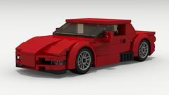Chevy Corvette Z06 (C5) (LegoGuyTom) Tags: chevy chevrolet classic vintage v8 american america coupe corvette muscle city car cars speed speedster sport super supercar sports champion champions speedchampions lego legos ldd designer digital legocity lxf download dropbox povray pov