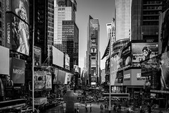 All of that Times Square (francis.mck.photo) Tags: above adverts blackandwhite building concrete day daylight empirestate ground lights lookdown low manhattan newyork roof screens shapes timessquare usa windows