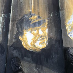 Michael Moore, painted portrait IMG_0140 (Abode of Chaos) Tags: abodeofchaos chaos lespritdelasalamandre salamanderspirit demeureduchaos thierryehrmann ddc 999 groupeserveur taz organmuseum servergroup facteurcheval palaisideal sanctuaire sanctuary artprice saintromainaumontdor portrait painting peinture france museum sculpture architecture maisondartiste art artistshouses streetart sculpturemoderne modernsculpture secret alchimie alchemy landart artbrut artsingulier rawart symbol 911 contemporaryart apocalypse postapocalyptique cyberpunk graffiti vanitas ruins prophecy prophtie container dadaisme outsiderart mystery