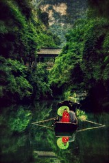 Dreamscape 3_1180_tonemapped (comeback_special) Tags: china travel portrait green texture tourism nature water river outdoors photography fineart peaceful overlay layers serene recreation yangtzeriver canon70d picmonkey threegorgestribe