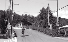 Nearly off the Bridge_ (Bill Smith1) Tags: billsmithsphotography canonf1n dorseton fdn50f14lens hc110b ilforddelta100 july2016 lakeofbays muskoka filmshooterscollective