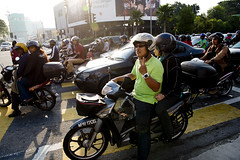 MYS067 Kuala Lumpur 13 - Malaysia (VesperTokyo) Tags: street honda asia crossing helmet scooter motorbike malaysia motorcycle intersection kualalumpur