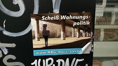 Schei Wohnungspolitik (Jrgo) Tags: streetart sticker stickerart frankfurt abg frankfurtammain ffm streetartfrankfurt streetartgermany wohnungspolitik streetartffm stickerffm