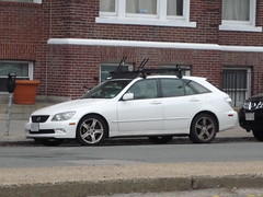 Lexus IS300 SportCross (JLaw45) Tags: road street new england urban usa white boston japan america wagon japanese is state metro massachusetts united north newengland area toyota vehicle metropolis parked motor states mass gita northeast altezza metropolitan lexus hatchback beantown 5door is300 sportcross coproation altezzagita