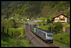 BLS Cargo 187 004, Intschi 30-04-2016 (Henk Zwoferink) Tags: cargo bls 187 004 uri henk traxx zwitserland gotthard erstfeld ac3 intschi bomberdier silenen br187 railpool zwoferink