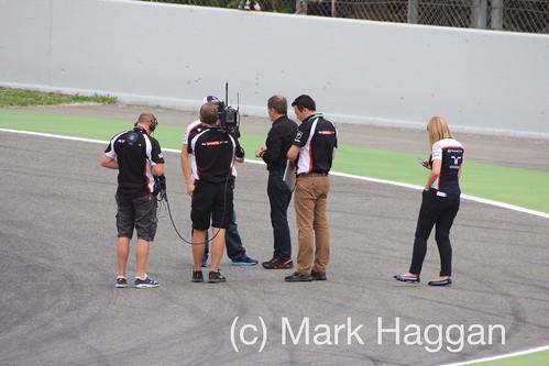 Martin Brundle interviews Pastor Maldonado at the 2013 Spanish Grand Prix