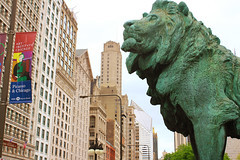 Lion (stevenzill) Tags: chicago art statue architecture buildings illinois lion institute