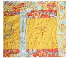Baby #2 Quilt (FabricDonkey) Tags: baby quilt linen joel negativespace heirloom essex kaufman dewberry cathedralwindow