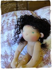 Contemplative.... (Les PouPZ) Tags: vintage toy natural waldorf collection chic artdoll decor doudou ragdoll dukker shabby clothdoll poupeedechiffon cuddledoll lespoupz stoffepuppen