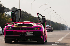 Diablo GT. (Lambo8) Tags: pink red italy orange black car rose rouge photography grande italia purple 4x4 anniversary violet s super voiture vik coche future diablo gt 50th 50 rosso nero supercar italie sv giro murcielago v12 miura veloce lm002 hypercar