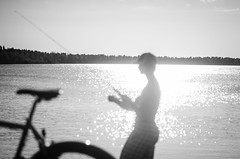 At the lake (Daniele Zanni) Tags: bike finland cool fishing fisherman uncool oulu cool2 kuivasjrvi cool5 cool3 cool6 cool4 cool7 uncool2 uncool3 uncool4 uncool5 uncool6 iceboxcool