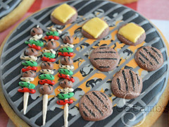 Grill Cookies (SweetAmbsCookies) Tags: summer dog hot cute ice memorial picnic frost dad cookie day sweet outdoor burger father royal bbq grill sugar cheeseburger butter icing iced barbeque decorate ams fathers skewer shish frosted decorated kebob ambs