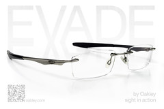 Evade by Oakley, ad mockup (shane.rooks) Tags: glasses frames ad prescription oakley qrcode evade