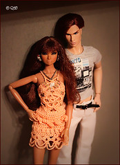 Erin & Alex's Romain (astramaore) Tags: red orange love beauty fashion toy glamour doll erin tan auburn romance redhead greeneyes relationship chic lovestory making affair royalty tanned relations fulllips loveaffair fashionroyalty