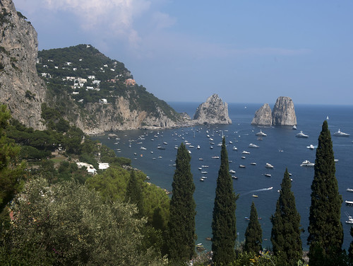 The Faraglioni Rocks are the symbol of Capri