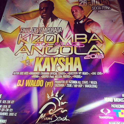 Tonight @ Miami beach, #Luanda, #Angola #Kaysha rockin' the area @mario_martim @shurama @djwaldowaldo @djmalvadojr
