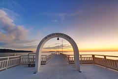 Okuma Sunset (jeff40416) Tags: travel sunset sea summer june japan canon landscape pier scenery tokina okinawa 500d 2013 t116 1116mm