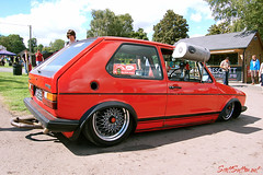 Very Low mk1 golf at retro rides gathering