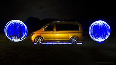1 Vdub and 2 orbs (AGB Photography) Tags: lightpainting vw dark volkswagen nikon lp t5 custom orbs lamborghiniorange d7000 agbphotography