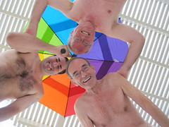 August 26, 2013 (67/368+2) (gaymay) Tags: california gay love umbrella happy rainbow desert palmsprings smiles triad
