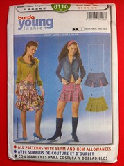 Burda Young Fashion 8118 (noonoomon) Tags: skirt burda 8118 youngfashion noonoomonetsysewingpattern