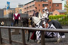 The Joust Begins (jamesdonkin) Tags: horse public animal costume leeds medieval tournament knight armour jousting royalarmouries manatarms platemail stacyevans historicalgarb fullplatearmour