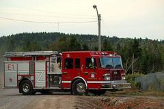 0007378 (Shakies Buddy) Tags: building training fire all exercise flames burning rights 300views firemen grandbaywestfieldvolunteerfirerescuedepartment grandbaywestfieldnbphotonbcanada