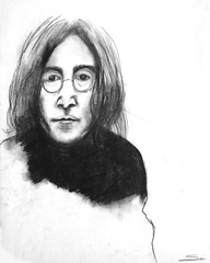 "John Lennon charcoal6 • <a style=""font-size:0.8em;"" href=""https://www.flickr.com/photos/78624443@N00/9760786475/"" target=""_blank"">View on Flickr</a>"
