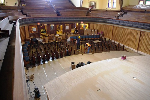Installation of orchestra level seats